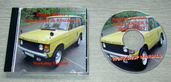 Range Rover, Discovery & Freelander Workshop Manuals on CD