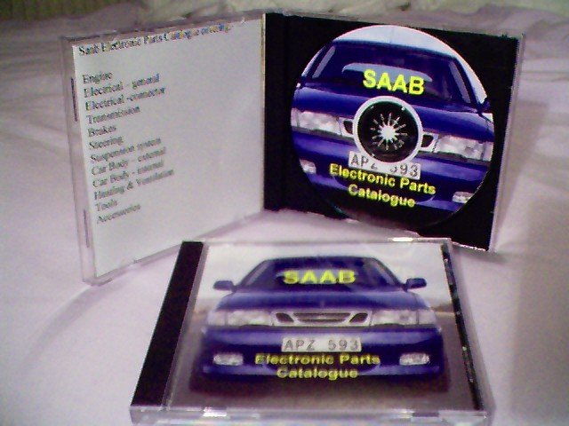 Saab Electronic Parts Catalogue (EPC) on CD