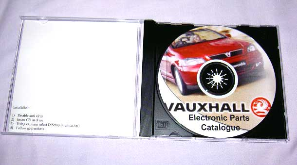Vauxhall & Opel Electronic Parts Catalogue on CD